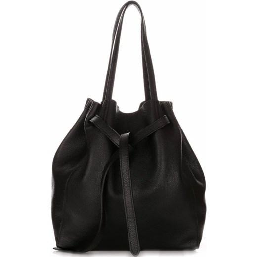 18926ca5b87bd ... Włoskie Torebki Skórzane ShopperBag z Kosmetyczką firmy Genuine Leather  Czarna (kolory) czarny Genuine Leather ...
