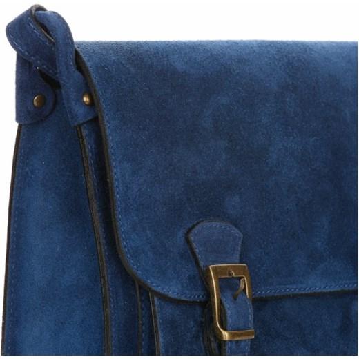 21d73d897d309 ... Torebka Skórzana Listonoszka Genuine Leather Niebieska (kolory) Genuine  Leather granatowy PaniTorbalska ...