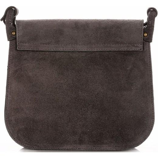 35098fb94612d ... Torebki Listonoszki Skórzane Firmy Genuine Leather Szara (kolory) Genuine  Leather PaniTorbalska ...
