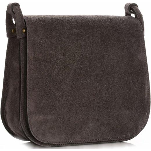 6d18961f34b34 Torebki Listonoszki Skórzane Firmy Genuine Leather Szara (kolory) Genuine  Leather PaniTorbalska ...
