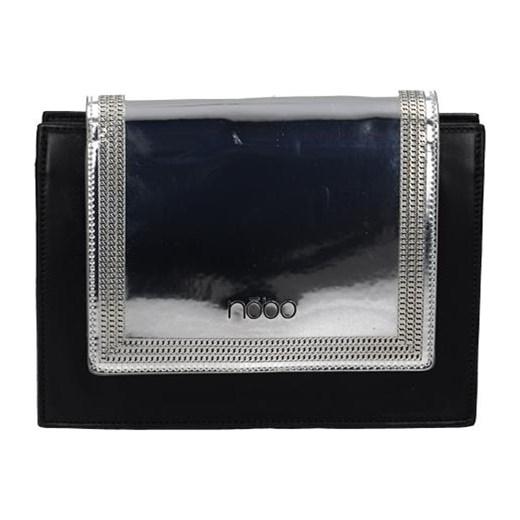 3e536df8760e2 Czarna kopertówka Nobo ze srebrną klapką czarny Tanie Torebki w Domodi