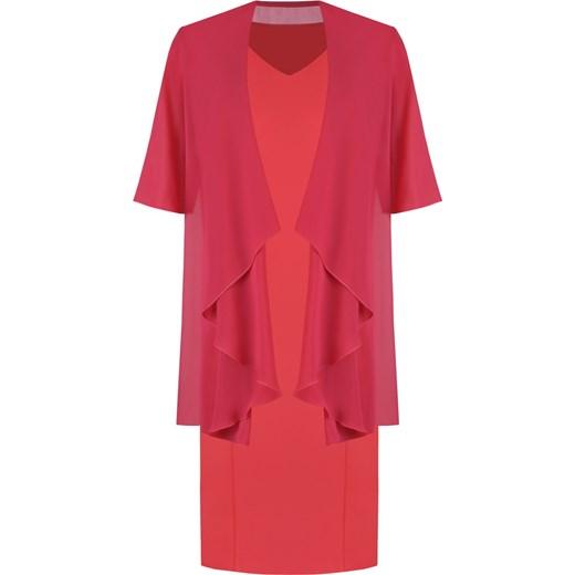 204e151197 Sukienka z szyfonową narzutką maskującą brzuch Gizela I. Modbis w Domodi