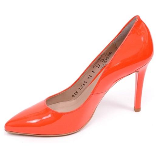 d3178282 Czółenka damskie Ryłko 9G200T czerwony-MX7 aligoo pomaranczowy na obcasie w  Domodi