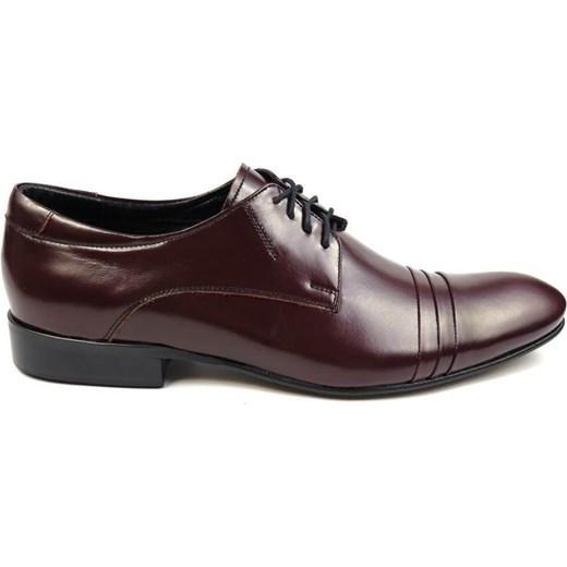 62913685f2960 Bordowe buty męskie Faber z zakładkami czarny - Obuwie Modini w Domodi