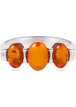 Pierścionek srebrny W.KRUK SPS/PB540 W.Kruk pomaranczowy  - kod rabatowy