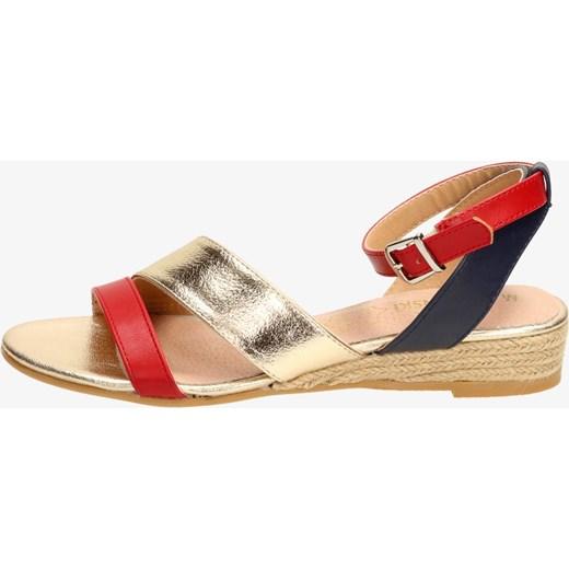 dffacdbceb822 Czerwone sandały damskie M.DASZYŃSKI 1635-4 M.Daszyński brazowy okazyjna  cena suzana