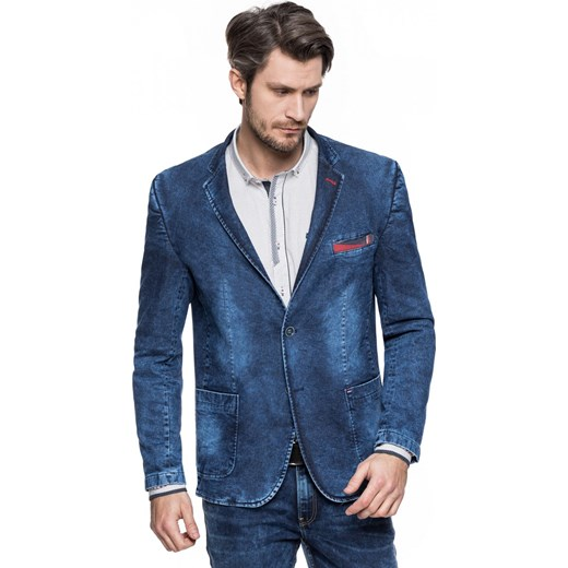 81c93cf5d470b Marynarka jeansowa męska - Vintage Style przecierana Betrendy.pl w ...