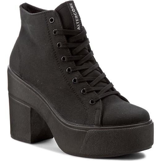 eobuwie botki czarne niskie