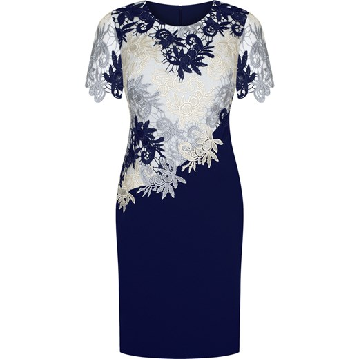 b2553320 Sukienka na wesele Wirginia XVIII, elegancka kreacja z gipiury i tkaniny.  Modbis
