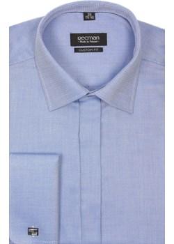koszula versone 2291 na spinki custom fit niebieski Recman promocyjna cena Recman - kod rabatowy
