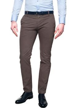 spodnie loders 215 brąz slim fit  Recman  - kod rabatowy