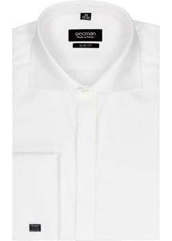 koszula versone 2508 na spinki slim fit ecru Recman bialy  - kod rabatowy