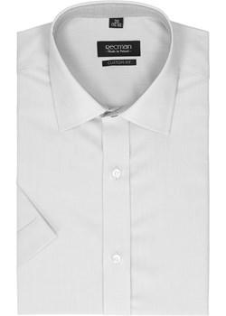 koszula bexley 2499 krótki rękaw slim fit szary Recman bialy  - kod rabatowy