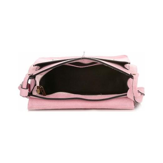 ceca8d5d842a8 ... Torebki Skórzane Listonoszki Genuine Leather Różowa (kolory) czarny Genuine  Leather PaniTorbalska ...