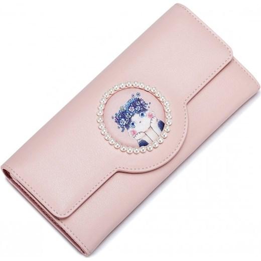 8931e6cfe6044 JUST STAR Bajkowy portfel ze skóry ekologicznej Różowy Just Star bezowy  Savani ...