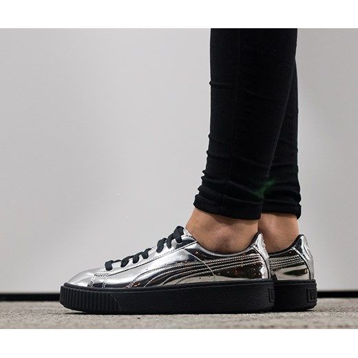 Buty damskie sneakersy Puma Basket Platform Metallic
