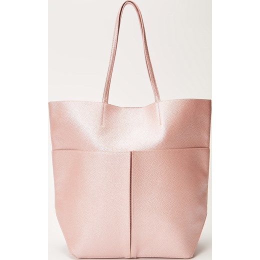 5623dc3a241c0 House - Torebka typu shopper o perłowym połysku - Różowy bezowy House One  Size ...