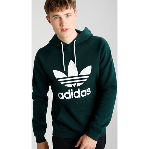 adidas Originals TREFOIL Bluza z kapturem green night Zalando