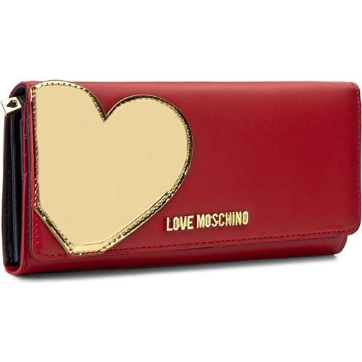 560b00e2ac564 Duży Portfel Damski LOVE MOSCHINO - JC5514PP14LD250A Rosso/Oro bezowy Love  Moschino eobuwie.pl
