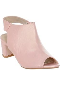 Botki damskie open toe Family Shoes bezowy  - kod rabatowy