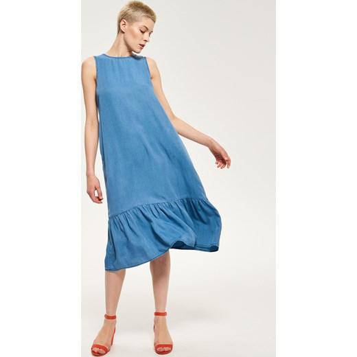 7918895b7f Reserved - Jeansowa sukienka Niebieski w Domodi