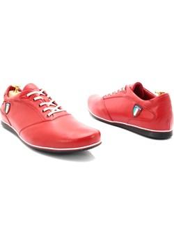 KENT 511I CZERWONE - Skórzane buty męskie sportowe casual rozowy Kent Tymoteo.pl - sklep obuwniczy - kod rabatowy