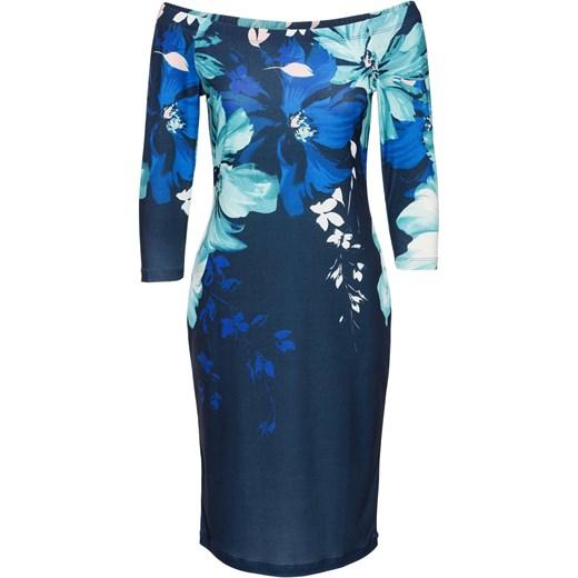 59365cc27515 Sukienka w kwiaty Bonprix Bodyflirt Boutique - Domodi.pl