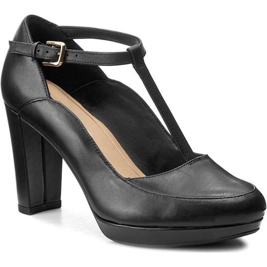 da7fd4ae1e0f Półbuty CLARKS - Kendra Daisy 261267994 Black Leather szary Clarks 36  eobuwie.pl