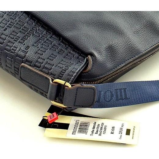 75c123ebcebc1 ... MONNARI Sportowa torba na ramię listonoszka A4 granatowy szary Monnari  One Size merg.pl ...