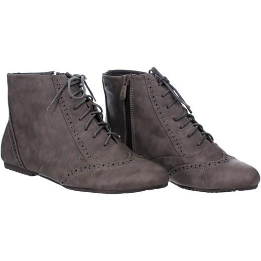 3a2872e14fab8 ... Ocieplane Botki szare Family Shoes szary 36 wyprzedaż ...