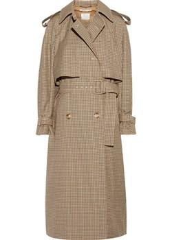Checked wool trench coat   NET-A-PORTER - kod rabatowy