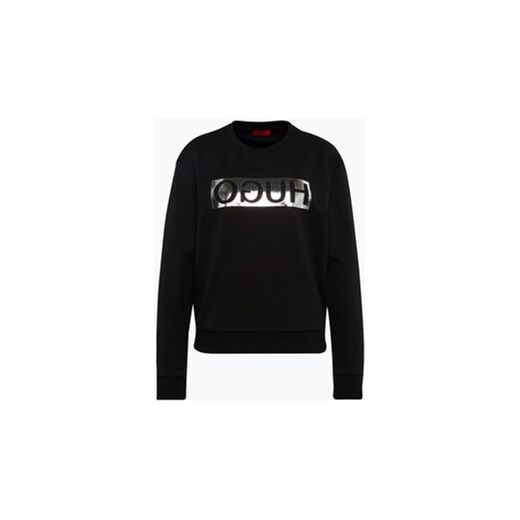9cc2fb0fb9b30 HUGO - Damska bluza nierozpinana - Nicci, czarny Hugo czarny XL vangraaf