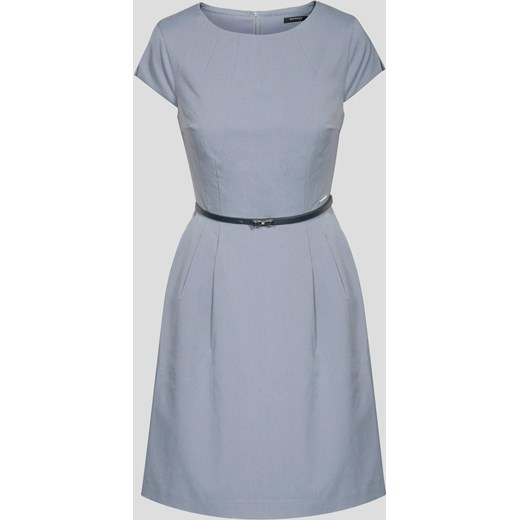 46d7b9dc0a9d0 Rozkloszowana sukienka z paskiem Orsay niebieski orsay.com w Domodi