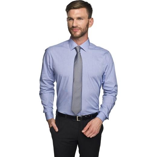 01ae8531c ... koszula bexley 2456 długi rękaw custom fit niebieski Recman 43/164-170