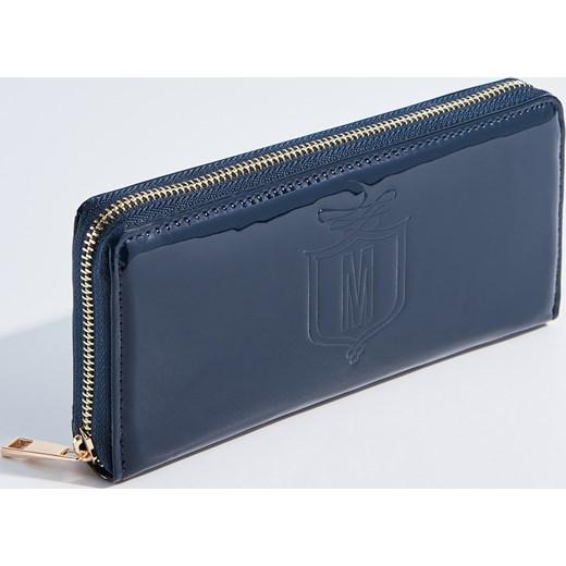 aec77137e8df8 Mohito - Lakierowany portfel Granatowy szary w Domodi