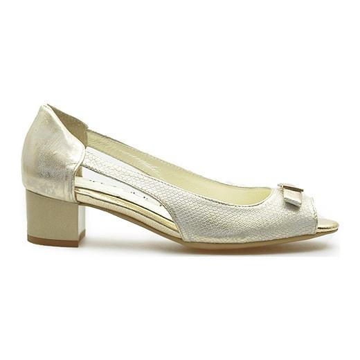 e0d157bd45ef2 Czółenka Prestige 892 S-43/ZŁ Złote Łuska Prestige szary Arturo-obuwie.  Zobacz: Prestige
