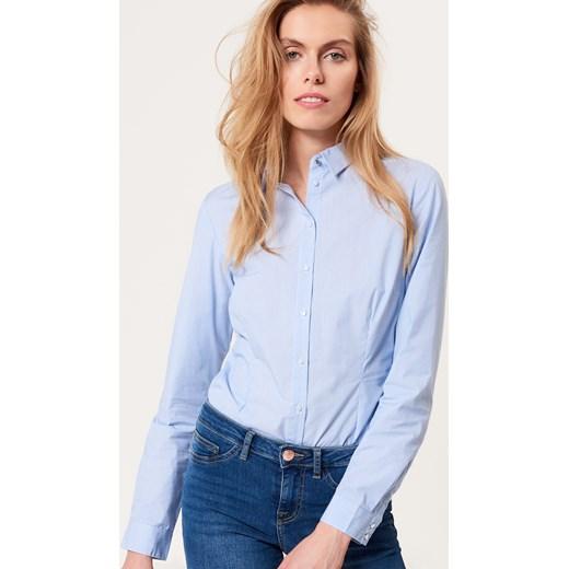 ff9f45f5f8ddf5 Mohito - Klasyczna koszula body Wielobarwn niebieski w Domodi