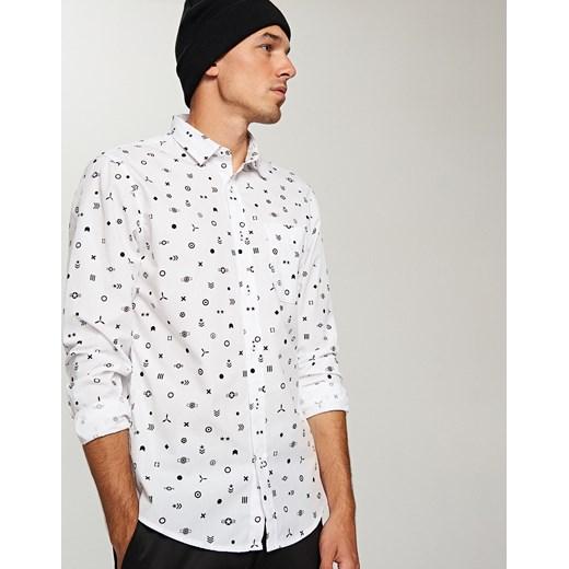Reserved Wzorzysta koszula regular fit Biały szary w Domodi  7BtTR