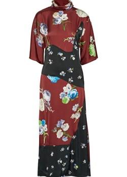 Dilona paneled printed satin midi dress   NET-A-PORTER - kod rabatowy