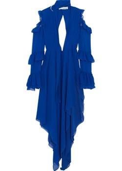 Cold-shoulder ruffled silk-chiffon maxi dress   NET-A-PORTER - kod rabatowy