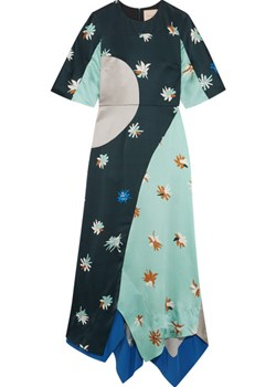 Amaya printed hammered silk-satin maxi dress   NET-A-PORTER - kod rabatowy