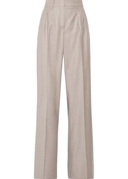 Pleated wool-twill wide-leg pants   NET-A-PORTER - kod rabatowy