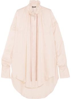 Velvet-trimmed satin blouse bezowy  NET-A-PORTER - kod rabatowy