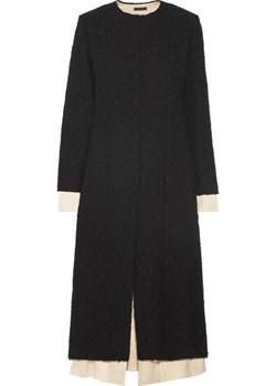 Amandla satin-trimmed bouclé coat   NET-A-PORTER - kod rabatowy