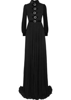 Embellished velvet-trimmed jersey gown   NET-A-PORTER - kod rabatowy