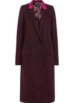 Velvet-trimmed wool-blend coat    NET-A-PORTER - kod rabatowy
