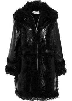 Shearling and crinkled patent-leather coat   NET-A-PORTER - kod rabatowy