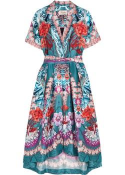 Pipe Dream printed silk midi dress   NET-A-PORTER - kod rabatowy