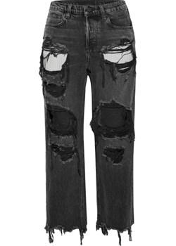 Rival cropped distressed high-rise straight-leg jeans czarny  NET-A-PORTER - kod rabatowy