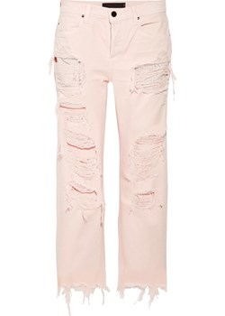 Rival cropped distressed high-rise straight-leg jeans bezowy  NET-A-PORTER - kod rabatowy